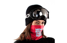 Mons Royale Neck Warmer pink reflect